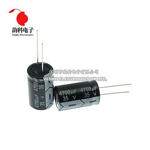 35V DIP Aluminum Electrolytic Capacitor 10UF 22UF 47UF 100UF 220UF 470UF 680UF 1000UF 2200UF 3300UF 4700UF 22000UF 47000UF