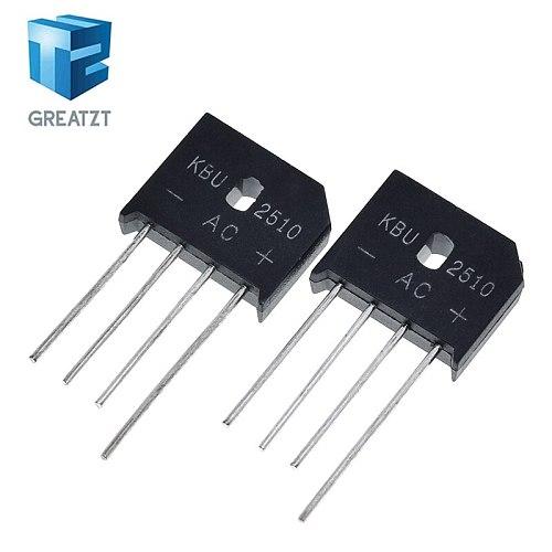 GREATZT 5PCS 25A 1000V diode bridge rectifier KBU2510