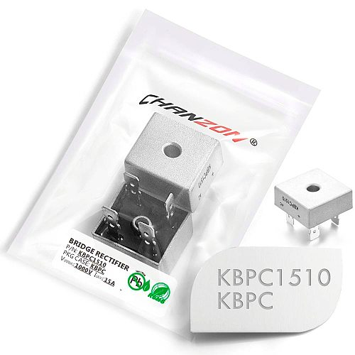2 Pcs KBPC1510 Bridge Rectifier Diode 15A 1000V KBPC 1510 Single Phase Full Wave 15 Amp 1000 Volt Electronic Silicon