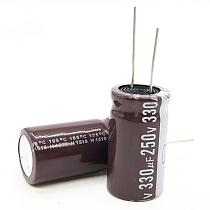 3pcs/lot 250v 330uf high frequency low impedance 18*35 20% RADIAL aluminum electrolytic capacitor 330000NF 20%