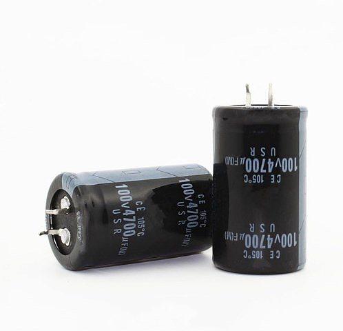 2PCS-20PCS 100V4700UF 4700UF 100V Electrolytic capacitor 30*50MM