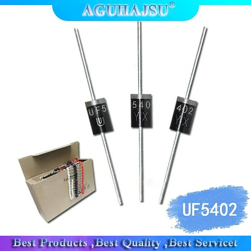 20PCS UF5402 3.0 AMP. ULTRA FAST RECTIFIERS UF5402 Ultrafast Recovery Diode DO-201AD Inline 3A/100V