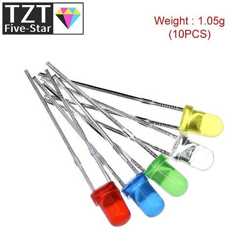 5Colors*20PCS=100PCS / 1Color=100pcs F3 3mm LED Diode Light Assorted Kit Green Blue White Yellow Red COMPONENT DIY kit