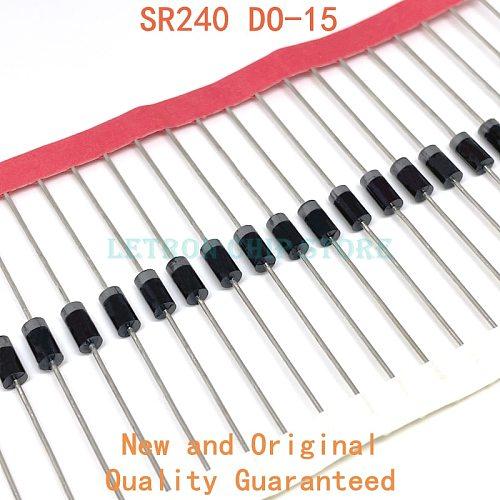 20PCS SR240 DO-15 SB240 DO-204 2A 40V Schottky Diode