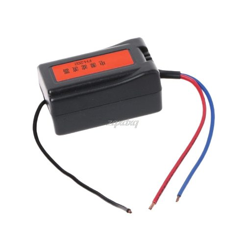 1Pc DC 12V Power Supply Pre-wired Black Plastic Audio Power Filter for Car VEA22P Filtering For Audio Dropship
