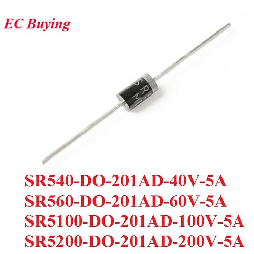 10PCS SR540 SR560 SR5100 SR5200 DO-201AD Schottky Rectifier Diode Rectifier Silicon Bridge Rectifier 40V 60V 100V 200V 5A