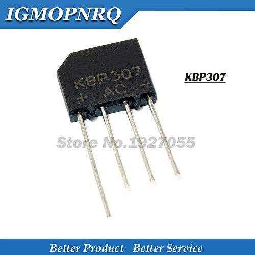 20PCS KBP307 KBP 307 3A 700V zip Flat bridge bridge rectifier 307 dip-4 Flat pile of rectifier bridge bridge new