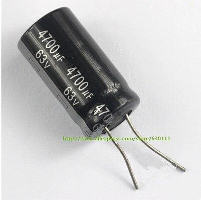 10pcs 4700UF 63V Radial Electrolytic Capacitor 63V4700UF 22mm X40mm
