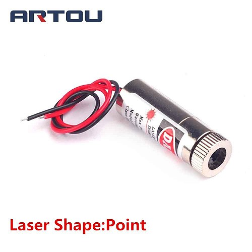 1PCS 650nm 5mW Red Point Laser Line Module Glass Lens Focusable Industrial Class