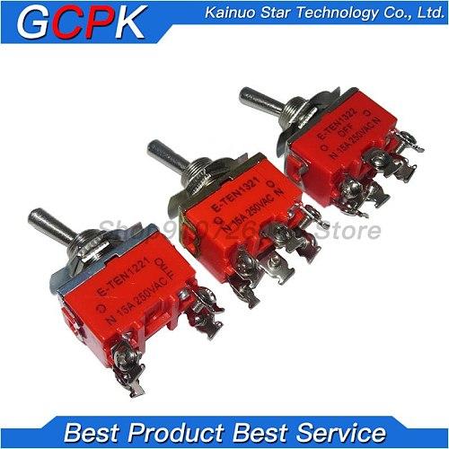 1PCS E-TEN1322 E-TEN1321 E-TEN1221 E-TEN1122 E-TEN1121 E-TEN1021 15A/250V Switch Miniature Toggle Switches 1322 1321 1221