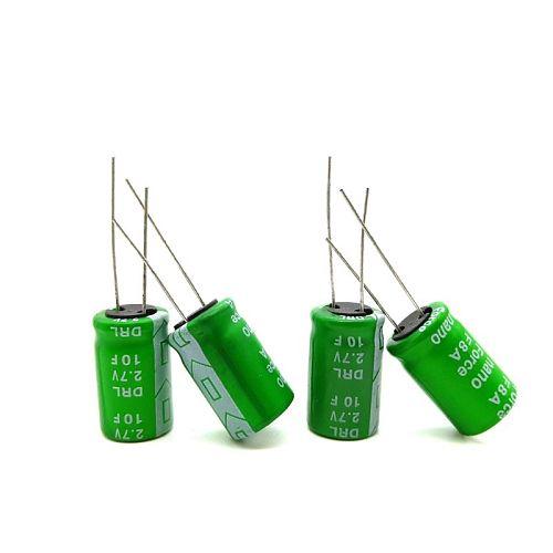 2pcs/set Super Capacitor 2.7V10F 12.5 x 20mm High Current Ultracapacitor Dropship