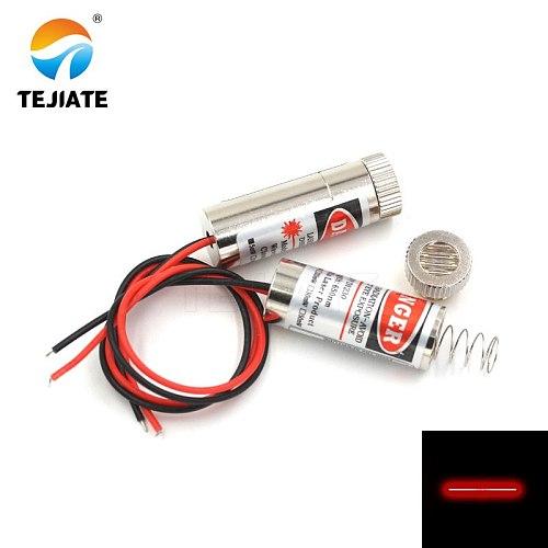12mm laser diode laser head 5mW 650nm red dot/line /cross laser tube infrared laser sensor module adjustable focal length 3-5V