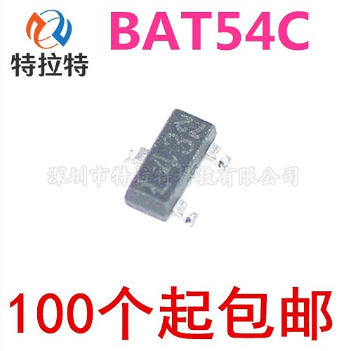 100pcs BAT54C L43 SOT-23 Schottky Diode 200MA 30V