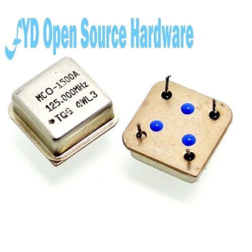 Inline active crystal oscillator 125MHZ square 125.000MHZ half size (2pcs/lot)