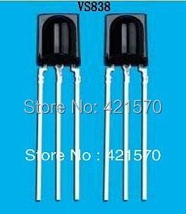 500PCS/LOT   VS838   Infrared Receiver Module  DIP-3