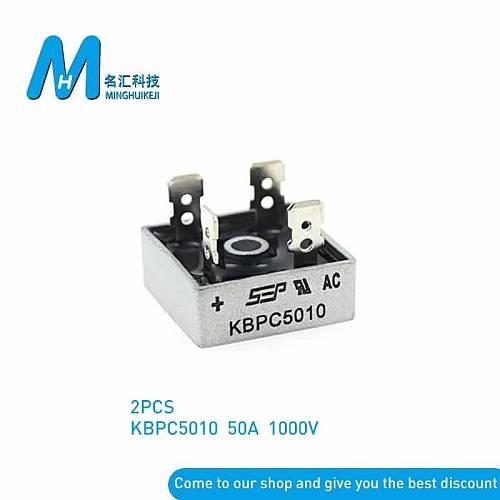 2PCS  KBPC1510 KBPC2510 KBPC3510 KBPC5010  15A 25A 35A 50A 1000V Diode Bridge Rectifier