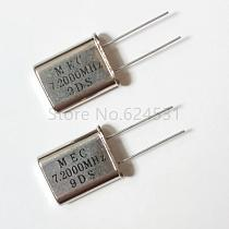 10pcs Genuine HC-49U-line passive quartz crystal oscillator 7.2MHZ 7.200MHZ 7.2M