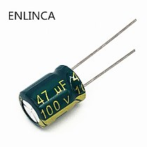 5pcs/lot BC11 high frequency low impedance 100v 47UF aluminum electrolytic capacitor size 8*12 47UF 20%