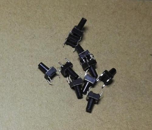 100pcs 6x6x10 MM 6x6x10MM Tact Switches Tactile Switch Microswitch Push button transistor