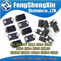 100pcs SMA Rectifier diode M1 M4 M7 SS12 SS14 SS16 SS24 SS34 SS26 SS36 SS110 SS210 SS210 US1M RS2M RS1M ES1D 1N4007  DO-214AC