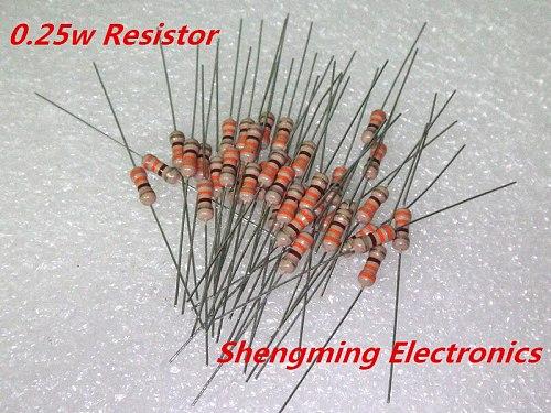 1000PCS 1/4W 0.25W 240R 270R 300R 330R 360R 390R 430R 470R 510R 560R 620R 680R 750R 820R 910R 1K ohm 5% Carbon Film Resistor