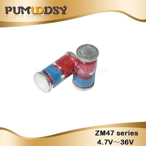 20PCS 1W 3V-22V 3.3V 4.3V 5.1V 6.2V 7.5V 8.2V 9.1V 10V 13V 18V 20V Diode LL41 SMD Zener Diode ZM4727A-ZM4748A ZM47 series