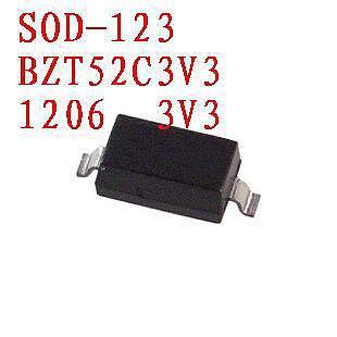 Free shipping  Zener diode  BZT52C3V3     SOD-123 100PCS