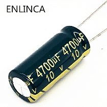 6pcs/lot P61 10v 4700UF Low ESR / Impedance high frequency aluminum electrolytic capacitor size 10X25 10v  4700UF 20%