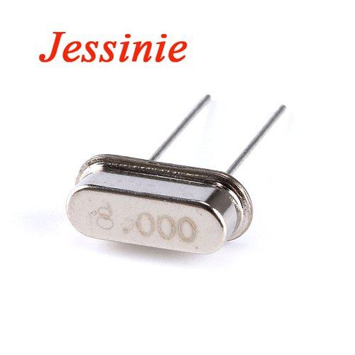 100pcs/lot Crystal Oscillator 8MHz 8 MHz 8M Hz 8.000M Mini Passive Resonator Quartz  HC-49S