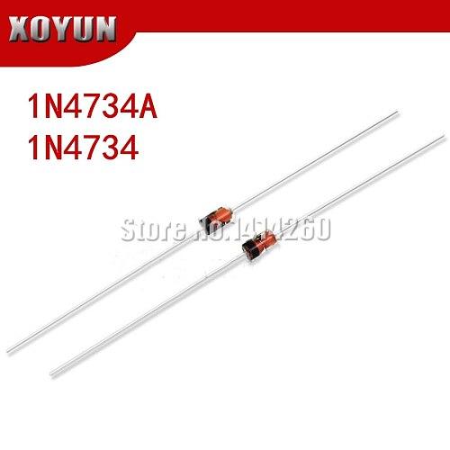 100pcs/lot 1W 5.6V 1N4734A 1N4734 DO-41 Zener diode
