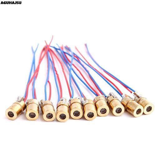 1PCS 5V 650nm 5mW Adjustable Laser Dot Diode Module Red Sight Copper Head Mini Laser Pointer