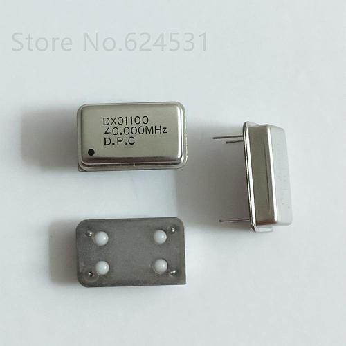 5pcs In-line active crystal OSC DIP-4 rectangular clock vibration full size 40MHZ 40.000MHZ