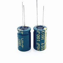50pcs/lot 160V 100UF 13*21 20% RADIAL Low ESR/Impedance High Frequency Aluminum Electrolytic Capacitor 100000nf 20%
