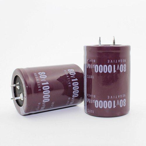 2PCS-12PCS  80V10000uf Electrolytic Capacitor Radial 10000UF 80V 35x50mm