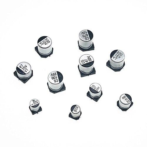 6pcs/lot 25v 68uf SMD Aluminum Electrolytic Capacitors size 6.3*5.4 68uf 25v