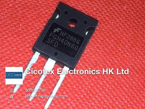 4pcs/lot FGH40N60SFD TO-247 FGH40N60 SFD IGBT 600V 40A 290W TO247 FGH40N60SFDTU