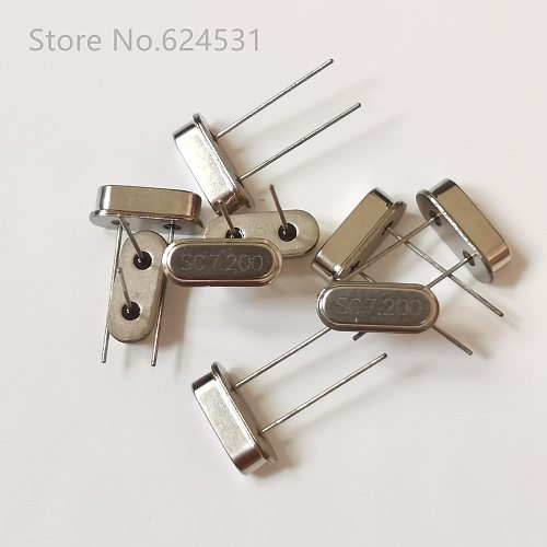 10pcs HC-49S In-Line Passive Quartz Crystal Crystal DIP 7.2MHZ 7.200MHZ 7.2M Resonator