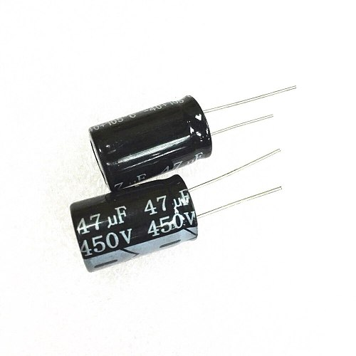50pcs, 47uF 450V 47UF450V Radial Electrolytic Capacitor 16mm X25mm Free Shipping
