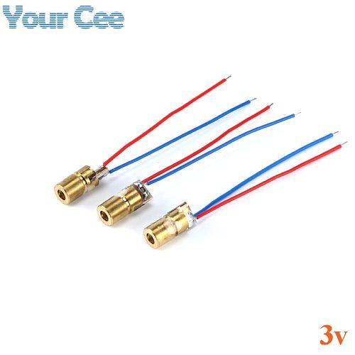 20pcs 650nm 6mm 3V 5mW  Laser Dot Diode Module Red Copper Head