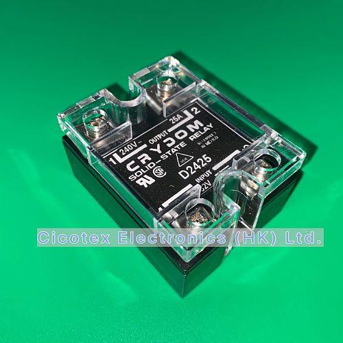 D2425 SSR RELAY SPST-NO 25A 24-280V HD2425 240V SOLID-STATE-RELAY INPUT 3-32V D-2425 240D25-17 240D 25-17 240D2517