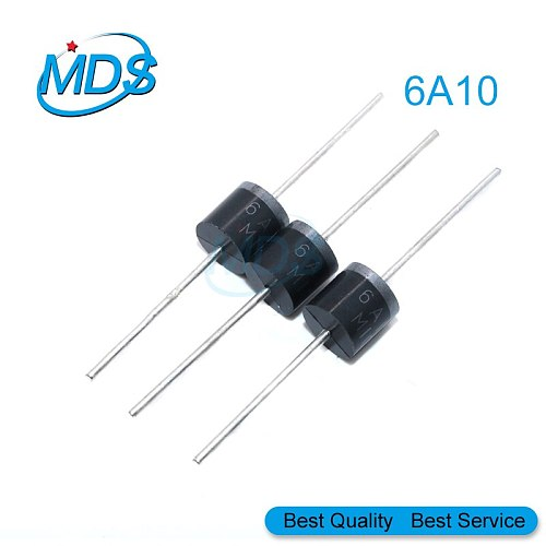 10pcs 20A10 10A10 6A10 R-6 DIP 6A 10A 20A 1000V electrical Axial Rectifier Diode 6A10 10A10 20A10 Mic Diode