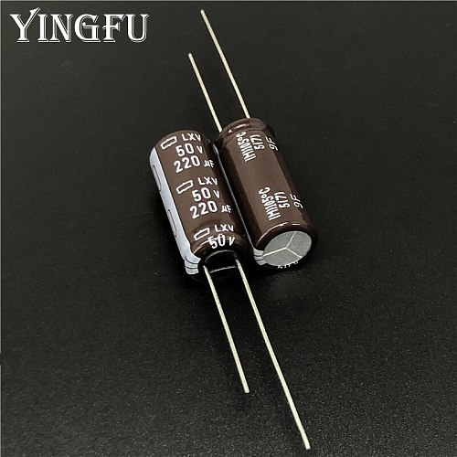 10pcs 220uF 50V Japan NCC LXV Series 10x25mm Low impedance 50V220uF Aluminum Electrolytic Capacitor