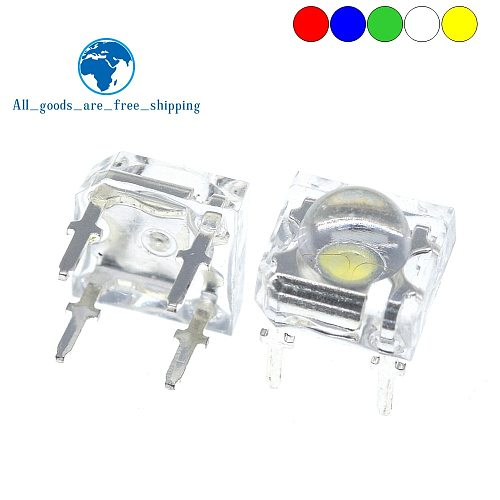 100Pcs 5mm F5 Piranha LED White Red Yellow Amber Clear 5mm LED Diode Light-Emitting-Diodes 4-pins Piranha LED Diodos Brightness