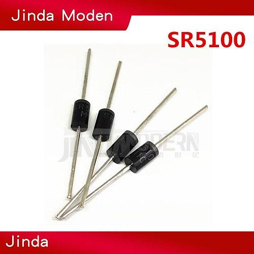20pcs schottky diode SR5100 5A/ 100V DO -27 SB5100 NEW