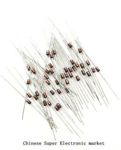 50pcs 1W Zener diode DO-41 3V 3V3 3V6 3V9 4V3 4V7 5V1 5V6 6V2 6V8 7V5 8V2 9V1 10V 11V 12V 13V 15V 1N4733A 1N4742A 1N4728A