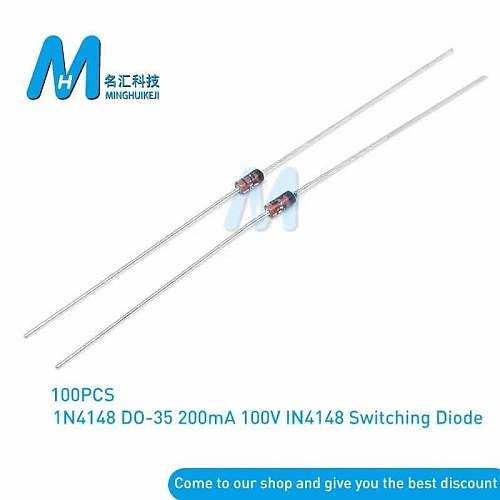 100PCS do-35 1N4148 IN4148 High-speed switching diodes MING DONG SEN