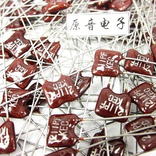 20PCS/50PCS Silver mica capacitors capacitance line fever KEC Mica 211PF 100V FREE SHIPPING