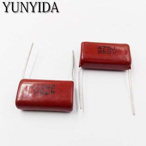 10pcs CBB Polypropylene film capacitor 250V  475J  106J 225J 105J 684J 474J 104J  473J