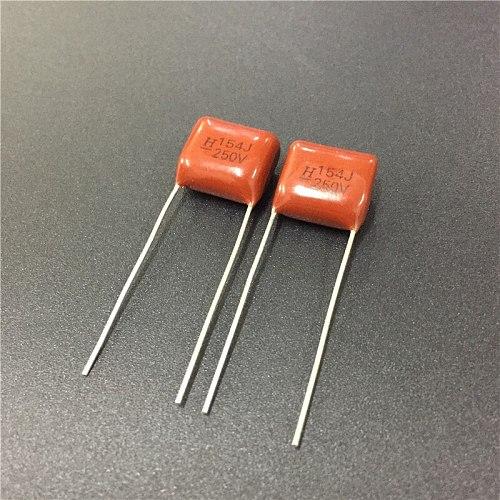 10pcs CBB 154 250V 154J CBB21 0.15uF 150nF P10 Metallized Polypropylene Film Capacitor