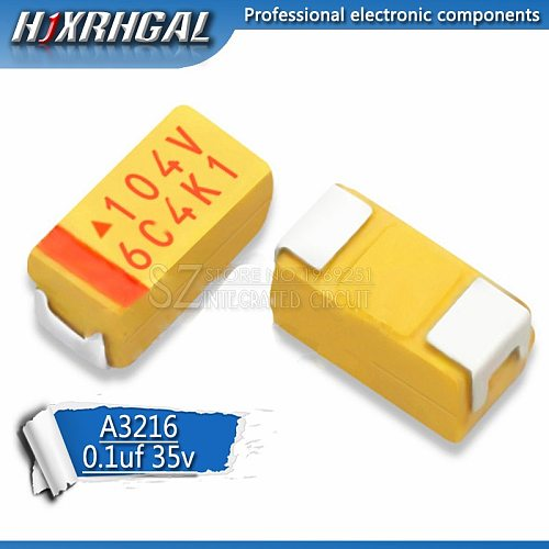 20pcs A 3216 0.1uF 100nF 35V 104V SMD tantalum capacitor hjxrhgal